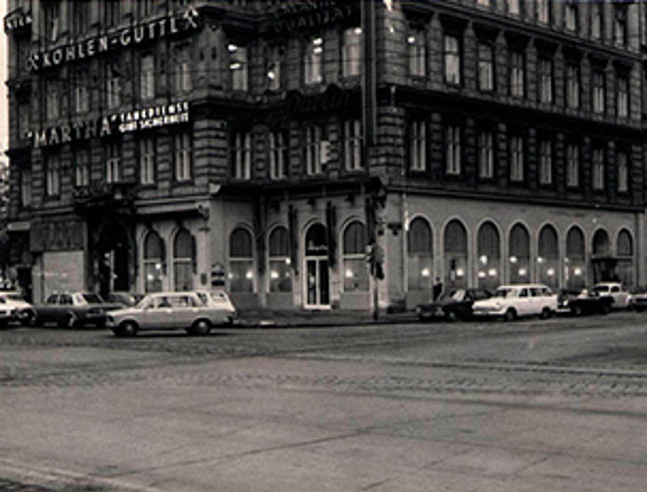 This was how the Café Schwarzenberg looked like before the renovation.